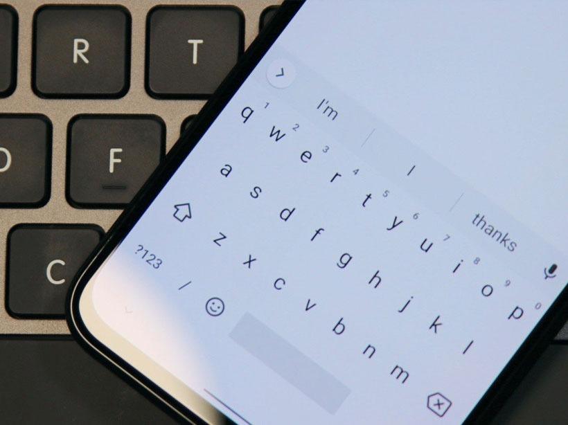 Android'de Klavye Büyütme